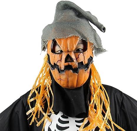 Creepy Novedad Halloween disfraz fiesta Props Látex calabaza ...