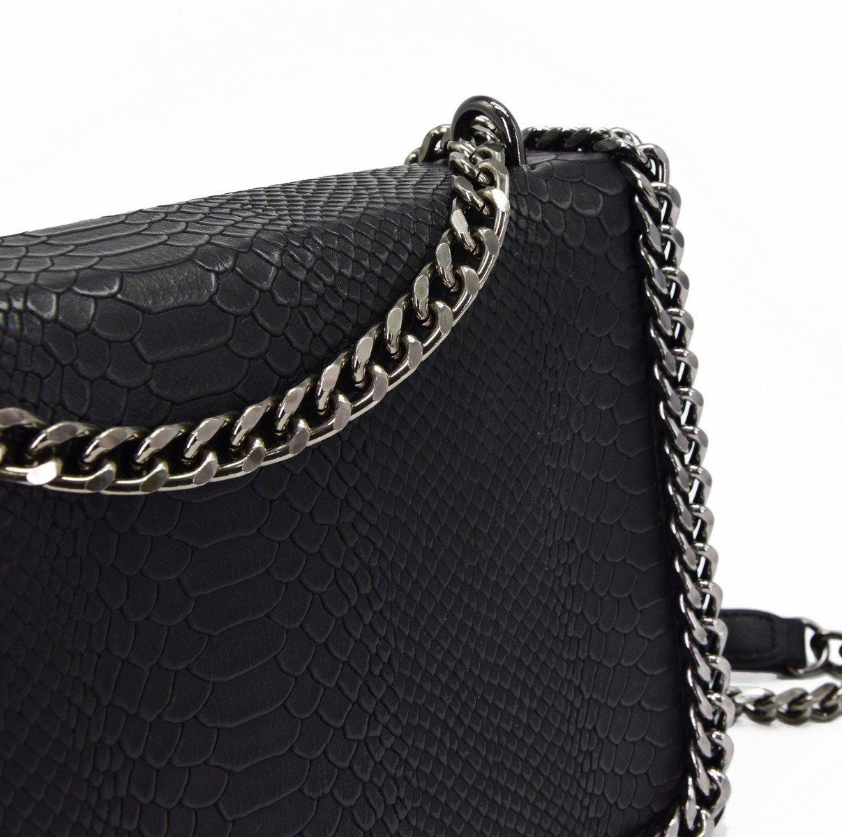 6f72b20c0 CRAZYCHIC - Women's Chain Quilted Crossbody Bag - Snake Skin PU Leather  Shoulder Handbag - Clutch Purse - Black: Amazon.co.uk: Luggage