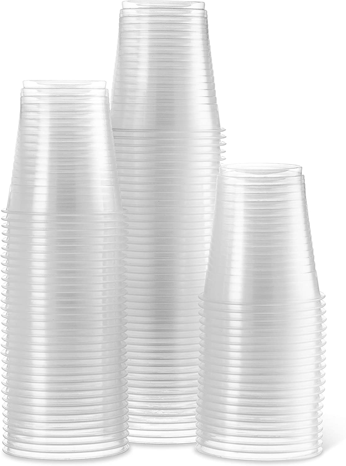 [2400 Count - 5 Oz Cups] Settings Clear Disposable Plastic Drinking Cups Great For Juice, Water, Soda, Beer, Use At Party, Home, Office, Picnic, BBQ, Or Event, 1 Case
