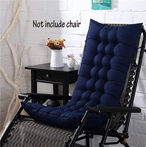 Cojín para silla de respaldo alto, para casa, oficina, viscoelástico, con botones, azul oscuro, 128*48*8cm