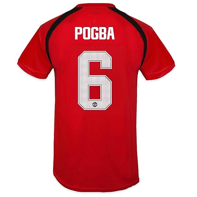 Manchester United FC - Camiseta oficial de entrenamiento - Para hombre -  Poliéster - Rojo Pogba 6 - Large  Amazon.es  Ropa y accesorios 6cdcc9ba2c5b2