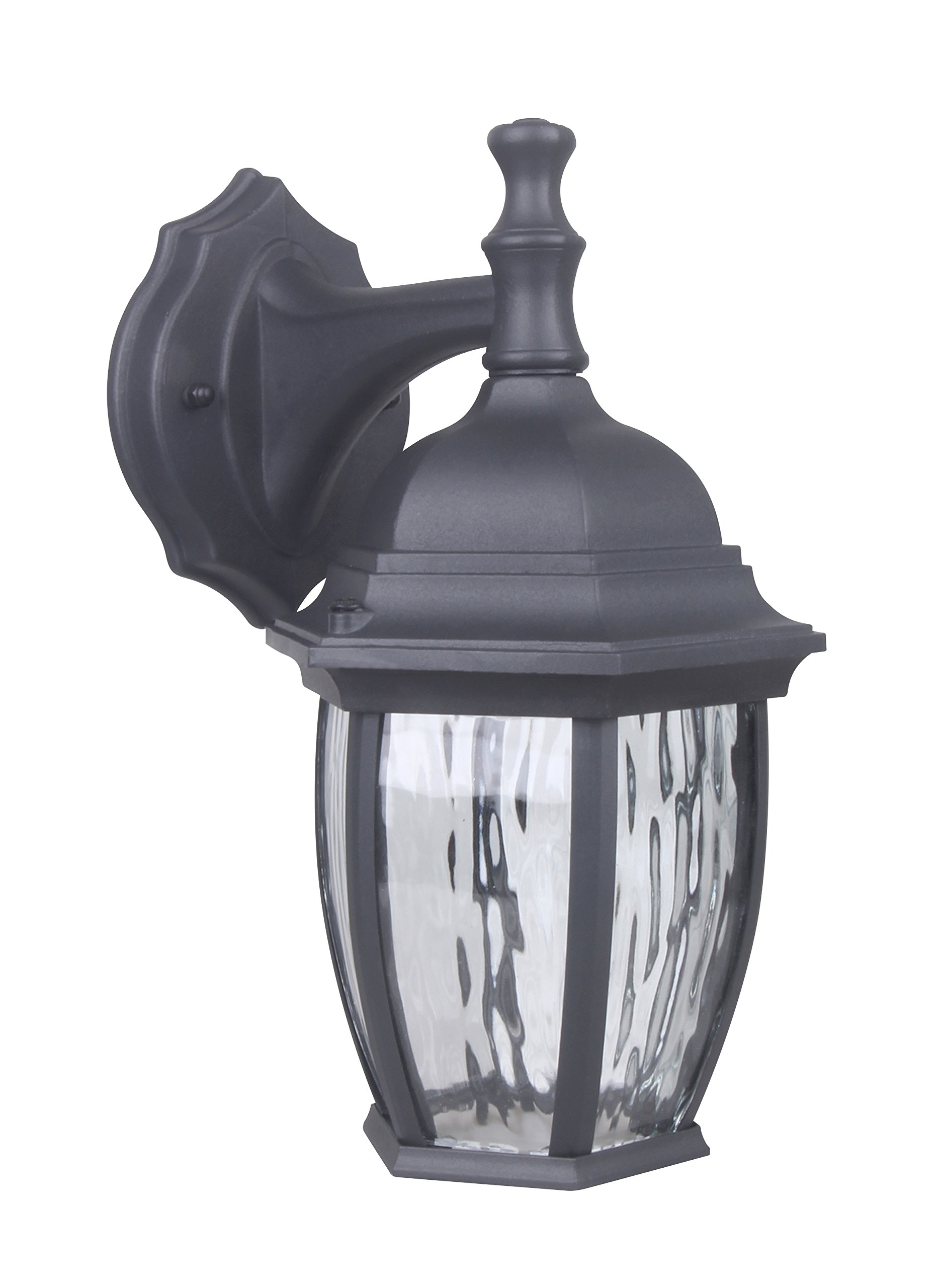 CORAMDEO Outdoor LED Wall Lantern, Wall Sconce 6.4W Replace 60W Traditional Lighting Fixtures, 450 Lumen, Water-Proof, Aluminum Housing Plus Glass, ETL and Energy Star Rated