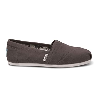 15c38b26ab9a Toms Women s Classic Canvas Ash Slip-on Shoe - 5 B(M) US