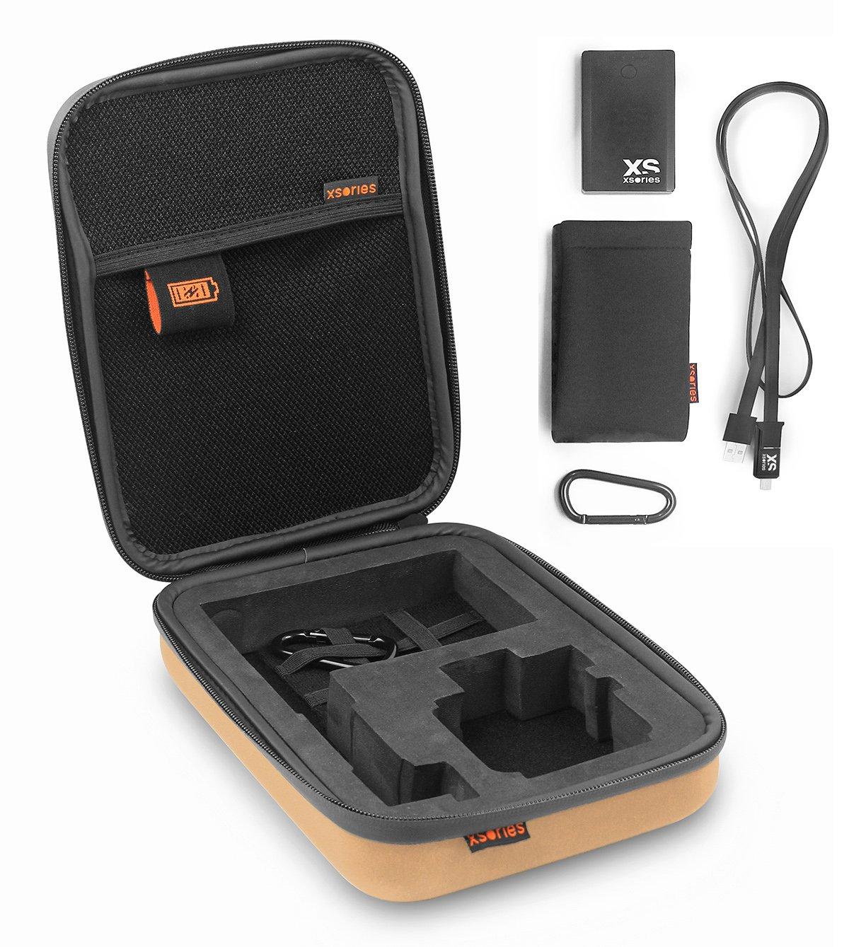 XSories PCPX3A102 Small Power Capxule GoPro Storage Case, 2800mAh Powerbank (Khaki)
