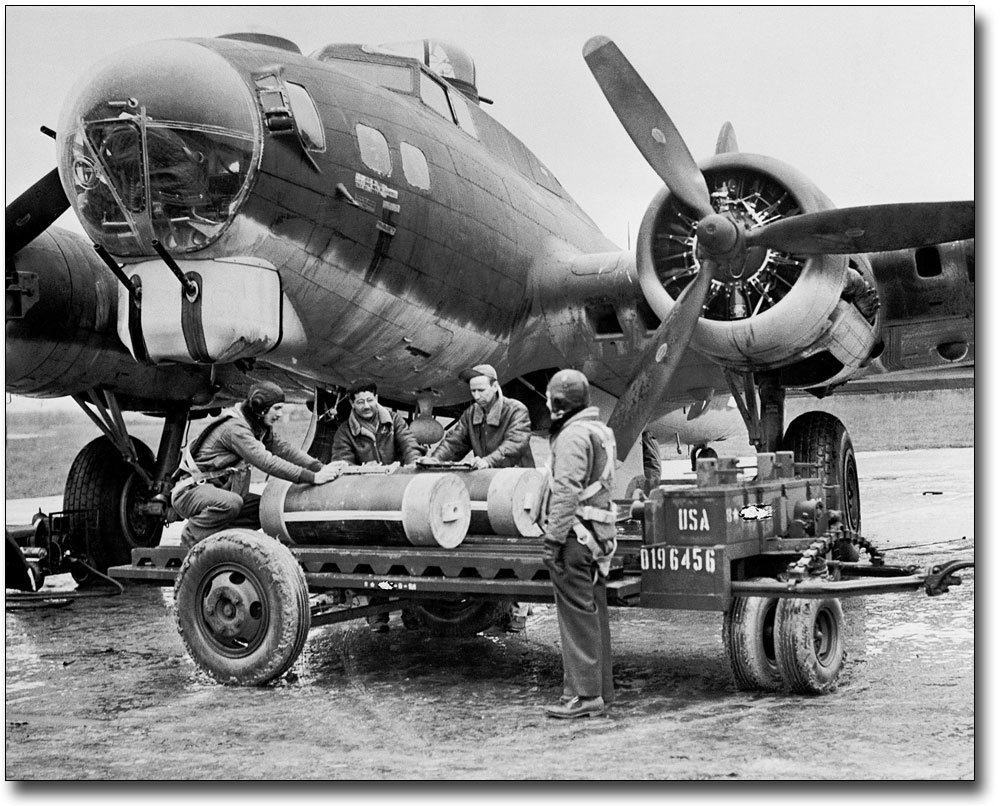 WWII B-17 Flying Fortress Ground Crew 8x10 Silver Halide Photo Print