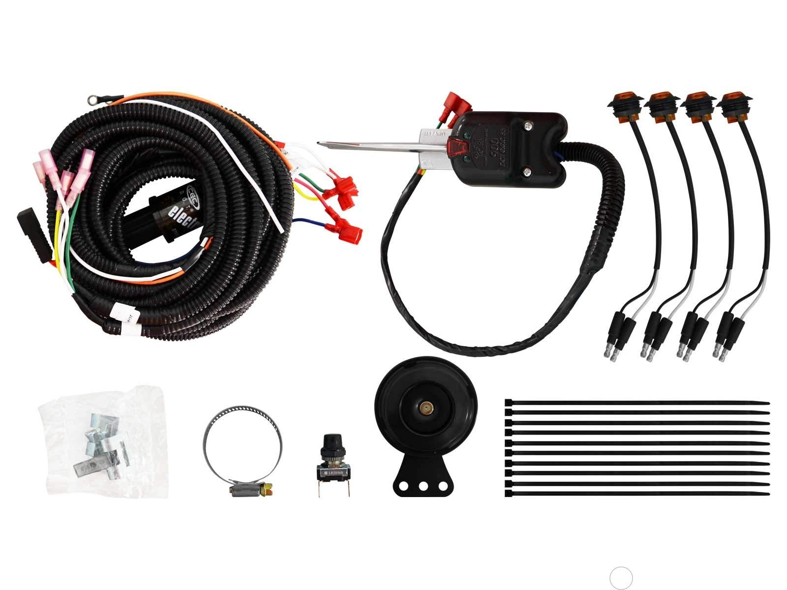 SuperATV Turn Signal Kit for Polaris Ranger XP 1000 / Crew (See Fitment) - With Steering Column Switch and Dash Horn - Plug and Play For Easy Installation! by SuperATV.com