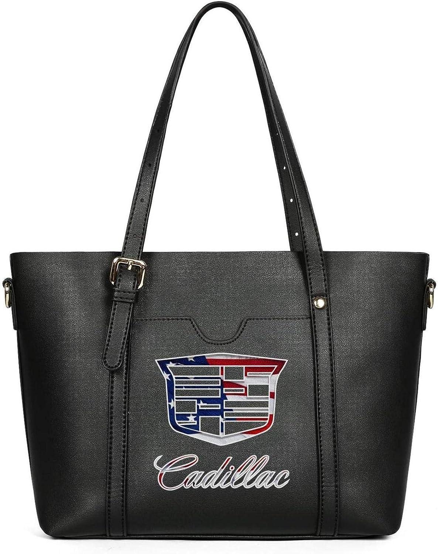 Cadillac-3D-effect-flag-infinity- Womens Leather Handbag Tote Ladies Shoulder Bag Crossbody Purse