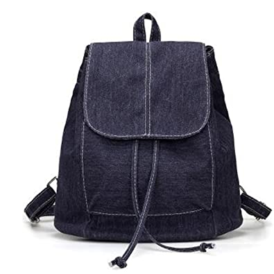 bahu Teenage Girl Bolsas Mochilas Feminina Soft Denim Women Backpack Drawstring School Bag Travel Bag Bag