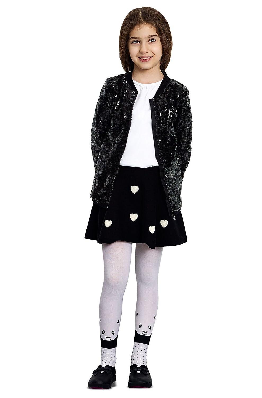 Panda Head 40 Denier Printed Luxury Fashion Kids Tights for Girls