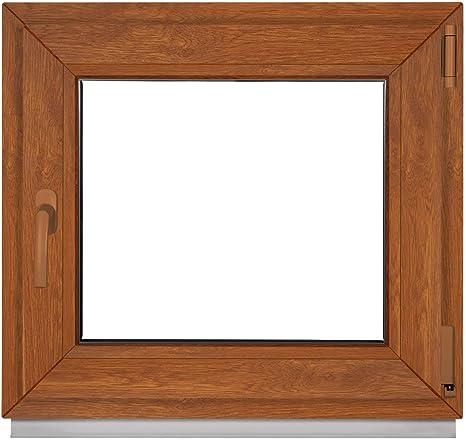 BxH:90x75 cm DIN Links 3 fach Verglasung Fenster Kellerfenster Kunststofffenster wei/ß ALLE GR/Ö/ßEN Premium Dreh-Kipp