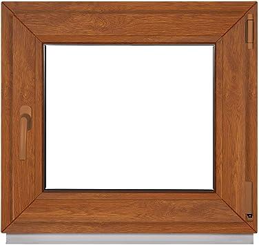 Fenster Golden Oak Aussen Innen Alle Grossen Kellerfenster Kunststoff Bxh 500 X 800 Mm Garagenfenster Fenster Pvc 50 X 80 Cm 2 Fach Verglasung Din Links Dreh Kipp Kunststofffenster Amazon De Baumarkt