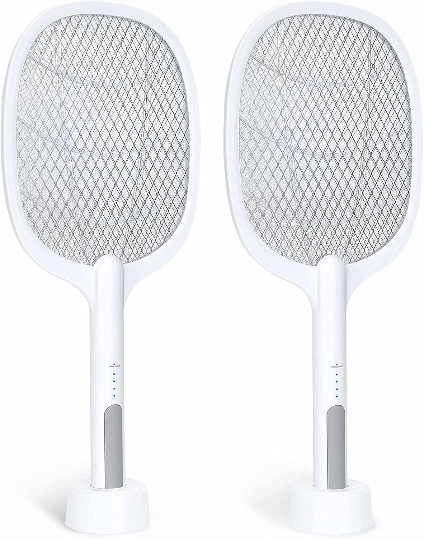 Mosquito Swatter Electric Flies Insect Killer Bug Zapper Racket C9S3