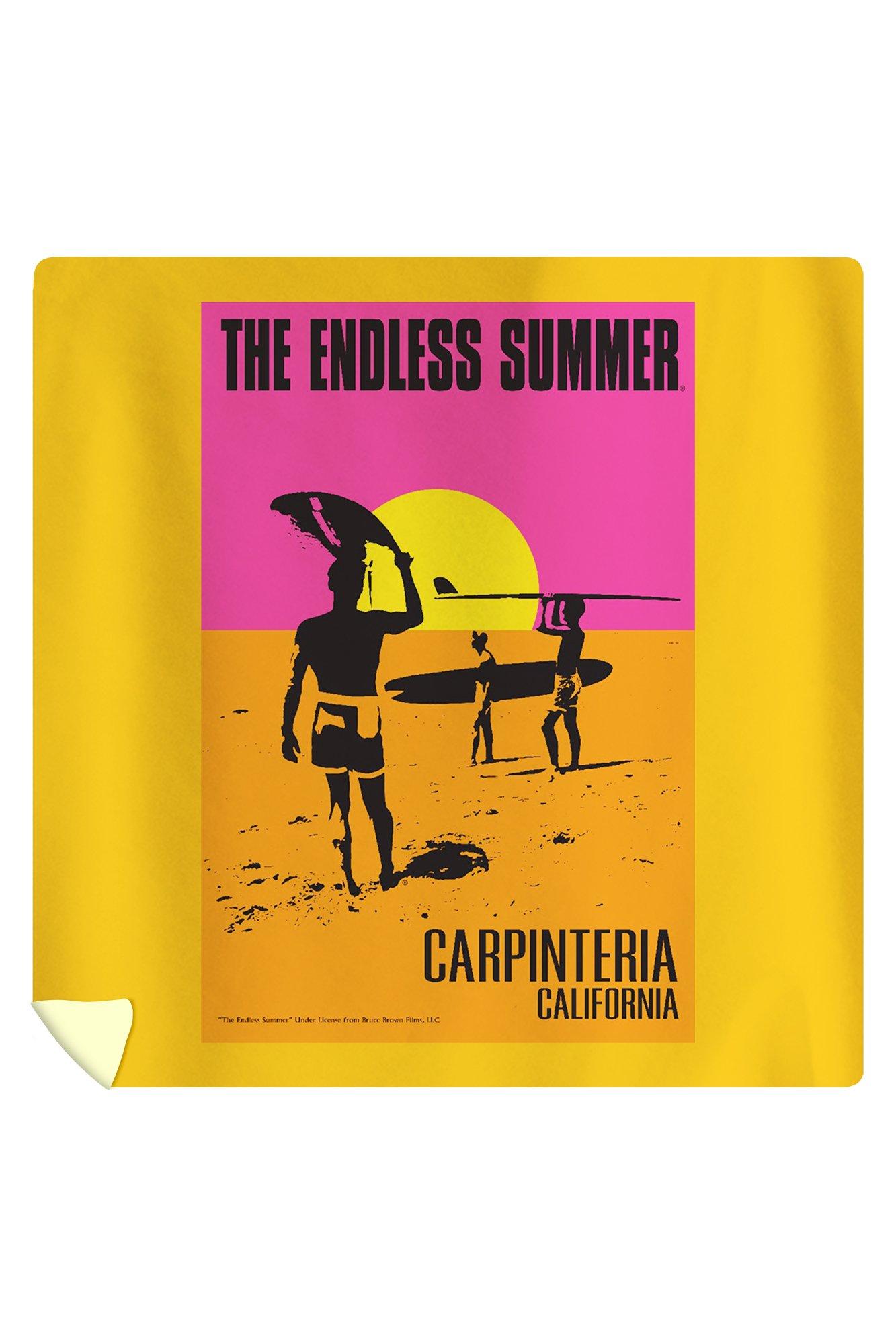Carpinteria, California - The Endless Summer - Original Movie Poster (88x88 Queen Microfiber Duvet Cover)