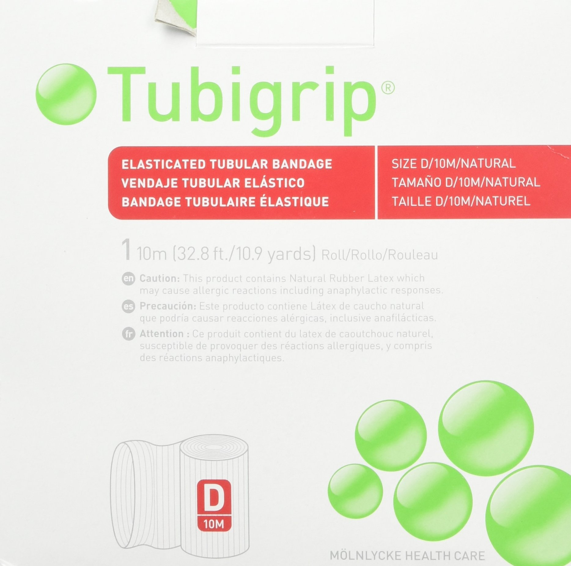 Tubigrip Tubular Bandage Size D, 10M Box (2 Pack)