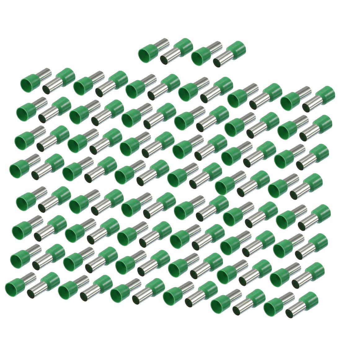 sourcing map 100pcs 16mm2 Cordon sertir borne fil vert connecteur Embouts isolé s