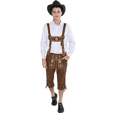 EraSpooky Oktoberfest Hombres Traje de Lederhosen ...