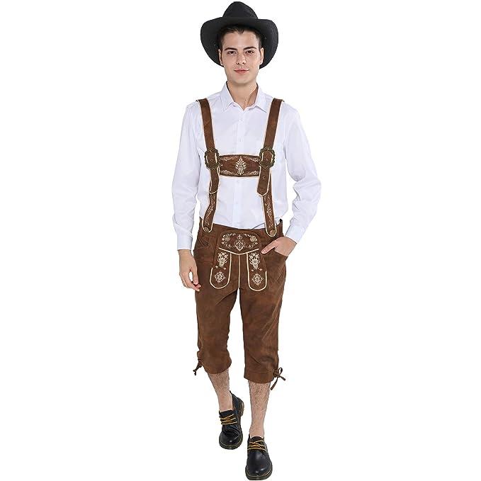 EraSpooky Oktoberfest Hombres Traje de Lederhosen Tradicional ...