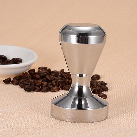 Bluefire máquina Café Tamper Acero inoxidable 51 mm de diámetro mango plano base Espresso Barista Bean
