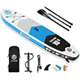 """Goosehill Inflatable Stand Up Paddle Board, Premium SUP Package, 10' Long 32"""" Wide 6"""" Thick, Patterns Open for…"""