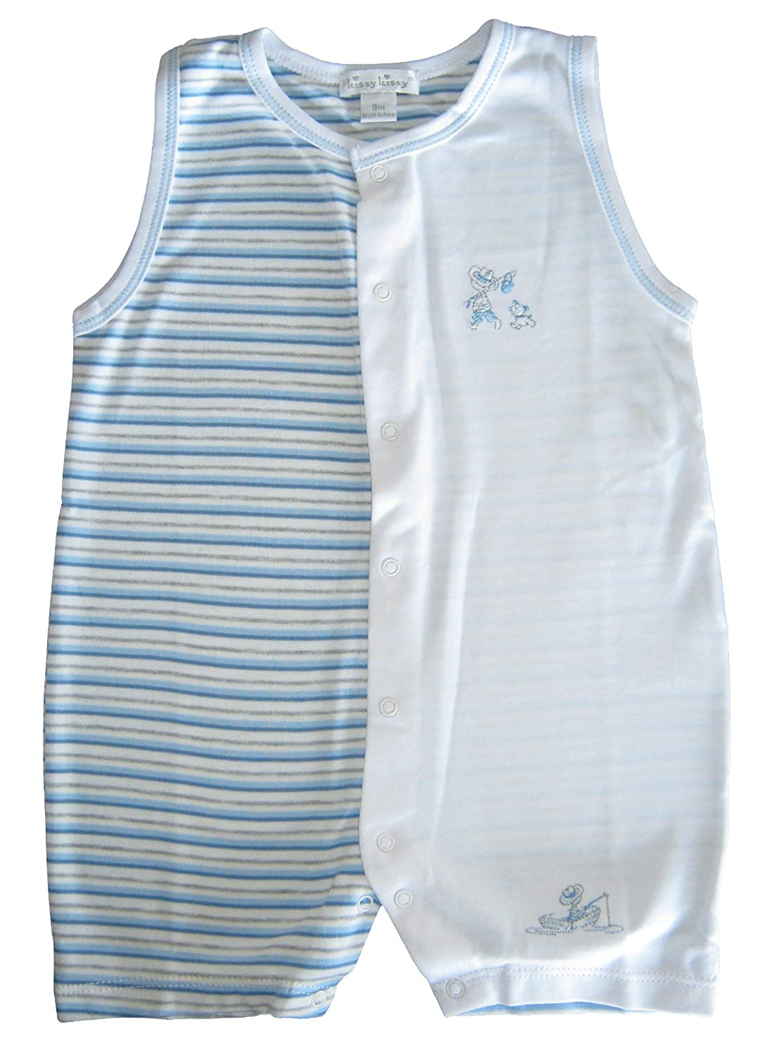 b9c961314eb6 Amazon.com  Kissy Kissy Baby-Boys Infant Lazy Days Sleeveless Short ...