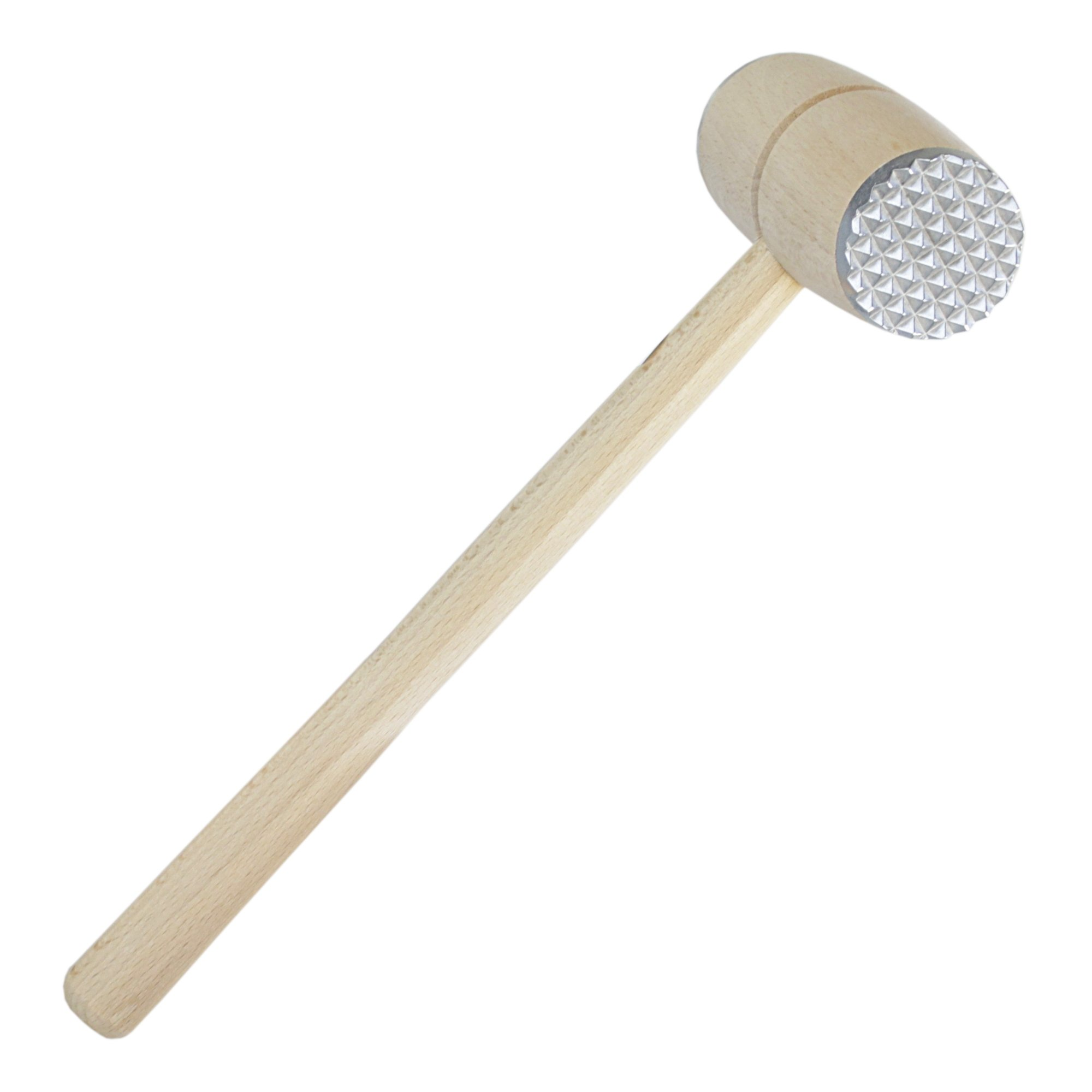 Scandicrafts Beech Wood and Aluminum 12 Inch Meat Tenderizer