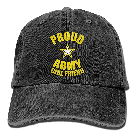 Image Unavailable. Image not available for. Color  Proud Army Girlfriend  Vintage Adjustable Cowboy Hat ... fa2ef1cb31aa