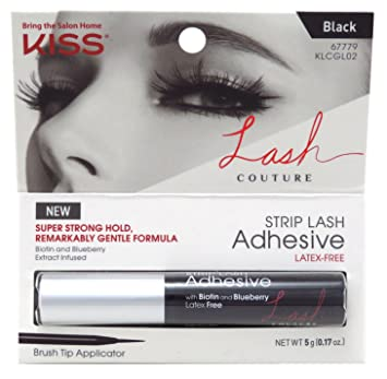 16d326c8a72 Amazon.com : Kiss Lash Couture Adhesive Strip Lash Black (3 Pack) : Beauty