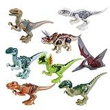 ROSENICE Welt Dinosaurier Kunststoff Dinosaurier Spielzeug Kindergeburtstag Party Dekoration, 8ST by ROSENICE