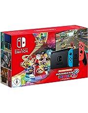 Nintendo Switch Neon-Rot/Neon-Blau (2019 Edition) Mario Kart 8 Deluxe Bundle