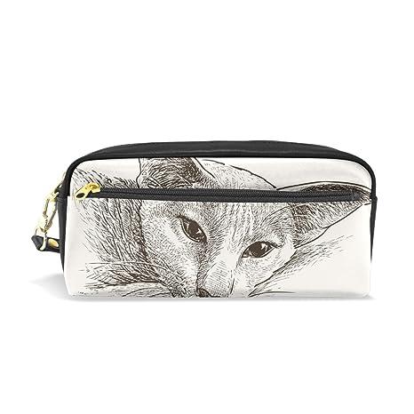 Bennigiry Canada - Estuche para lápices de gatos sin pelo, para escuela, bolígrafo,