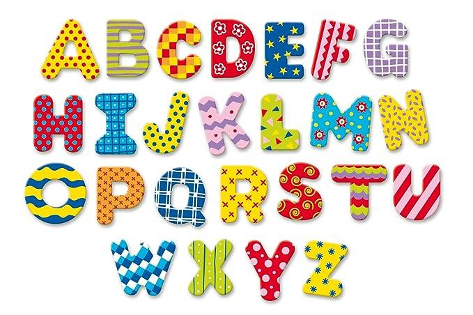Vilac Mon Alphabet magnéthique - Juego de abecedario (56 Letras magnéticas, Madera)