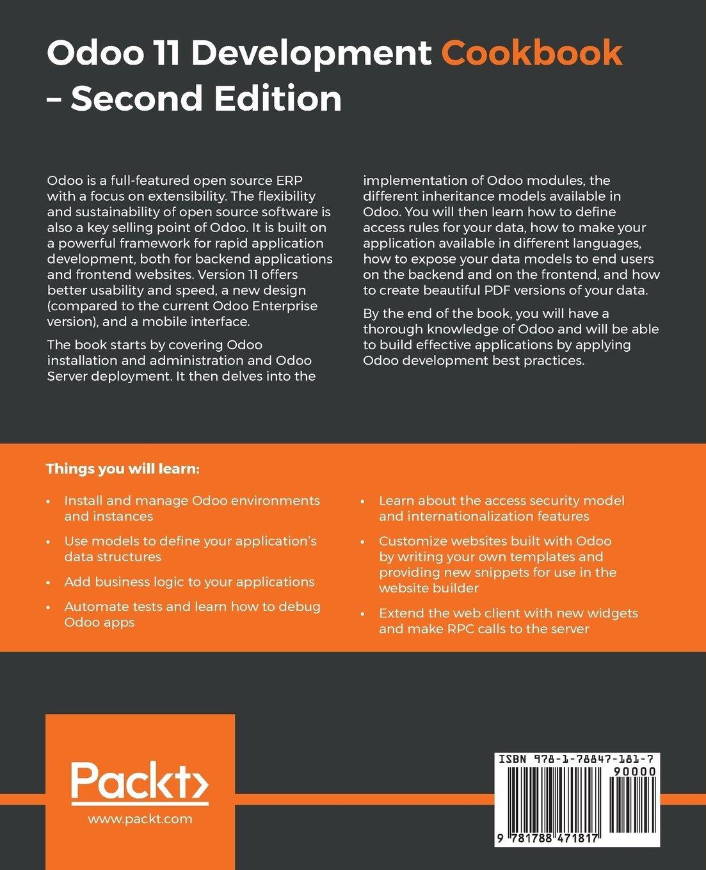 Amazon com: Odoo 11 Development Cookbook: Over 120 unique recipes to