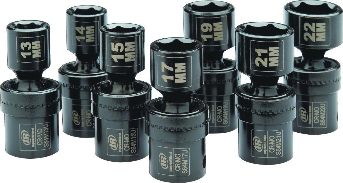 Ingersoll Rand Sk4m7un 1 2 Drive Metric Universal Impact Socket Set 7 Piece Amazon Com