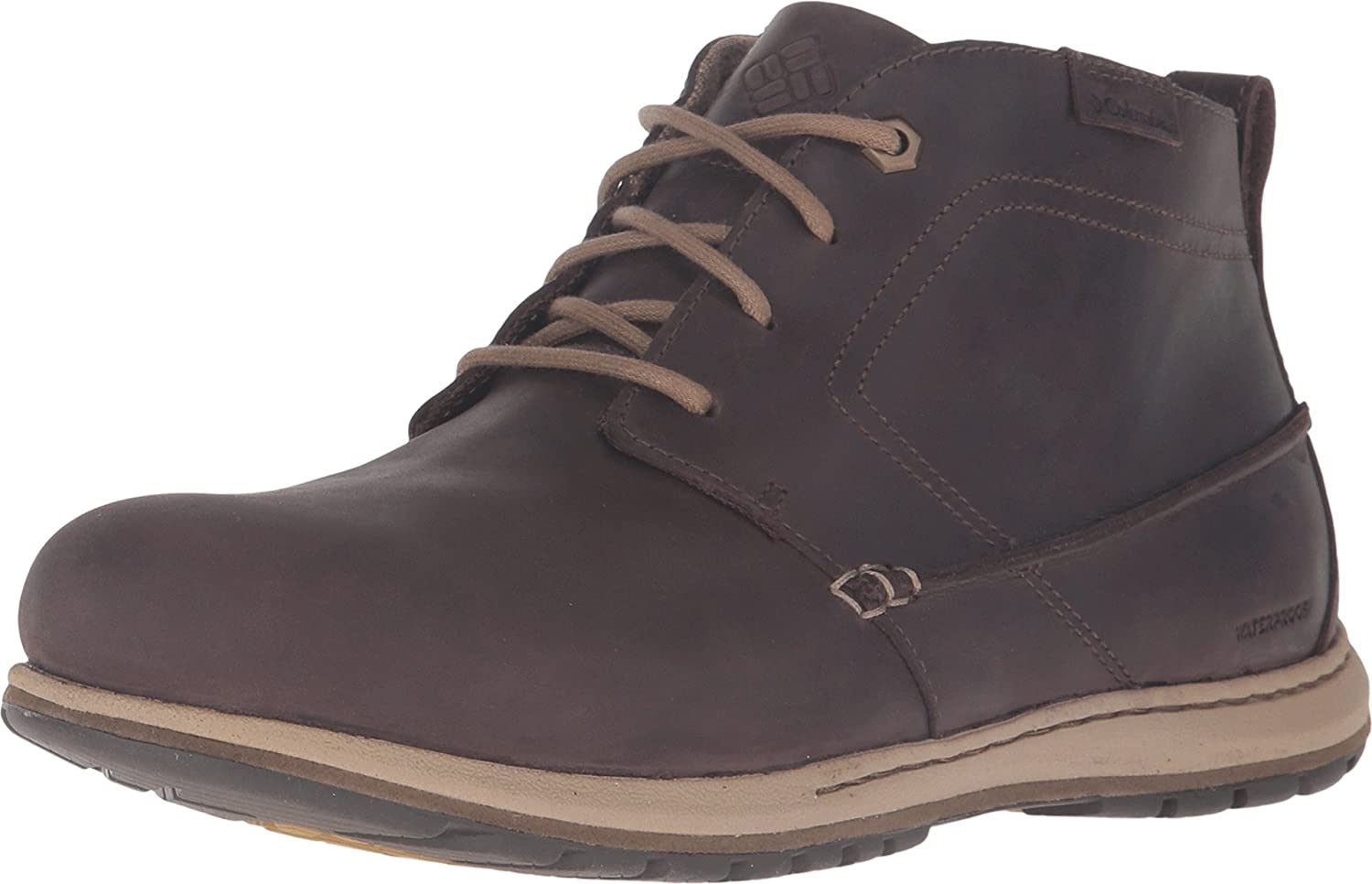 Columbia Men's Davenport Chukka Waterproof Lthr Wide-Big Cordovan, Prairie Sand