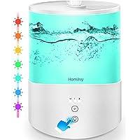 Homasy 2.5L Humidificador Aceites Esenciales,Humidificador Ultrasónico con Niebla Fría,Luces de Humor de 7 Colores…