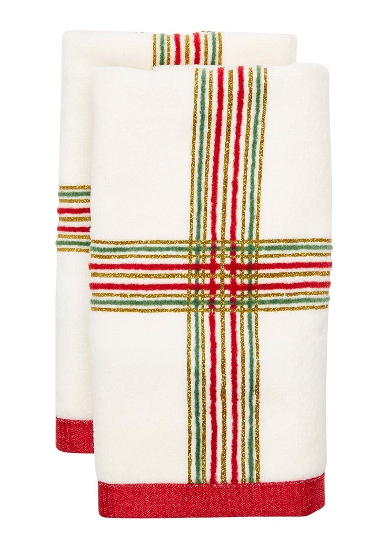 Lenox Holiday Nouveau Plaid Finger Towel
