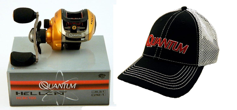 バンドル – Quantum Hellcat hcbc100 6.3 : 1右手Baitcast釣りリールと帽子   B01N3CB86W