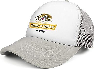 Kirin Ichiban Logo Mens Womens Mesh Baseball Cap Adjustable Snapback Beach Hat