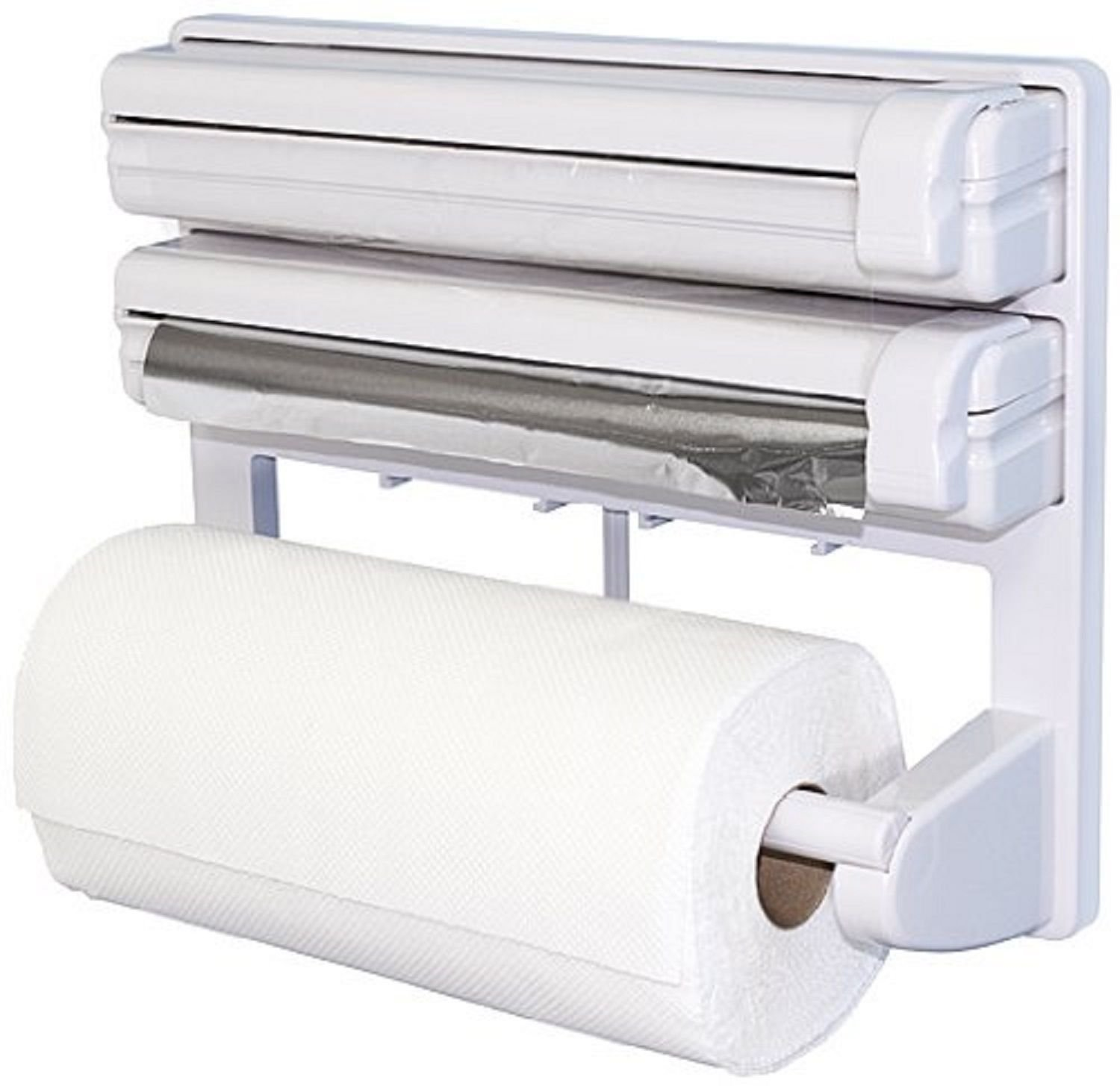 Kitchen Roll Holders Uk Kitchen Paper Towel Roll Dispenser Wall Mounted Cling Film Foil Rack Holders Home Furniture Diy Acuteq Co