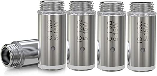 ELEAF –Pack de 5 resistencias IC (1.30 ohm) para Cigarrillo electrónico iCare serie (sin nicotina y sin tabaco): Amazon.es: Salud y cuidado personal