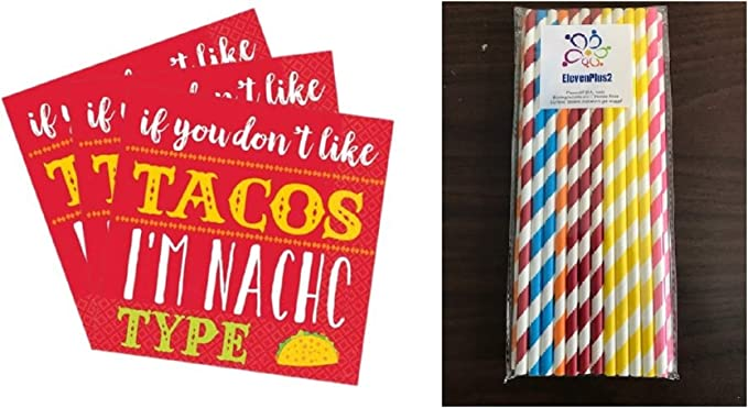 16 Count Amscan Dont Like Tacos Im Nacho Type Beverage Napkins