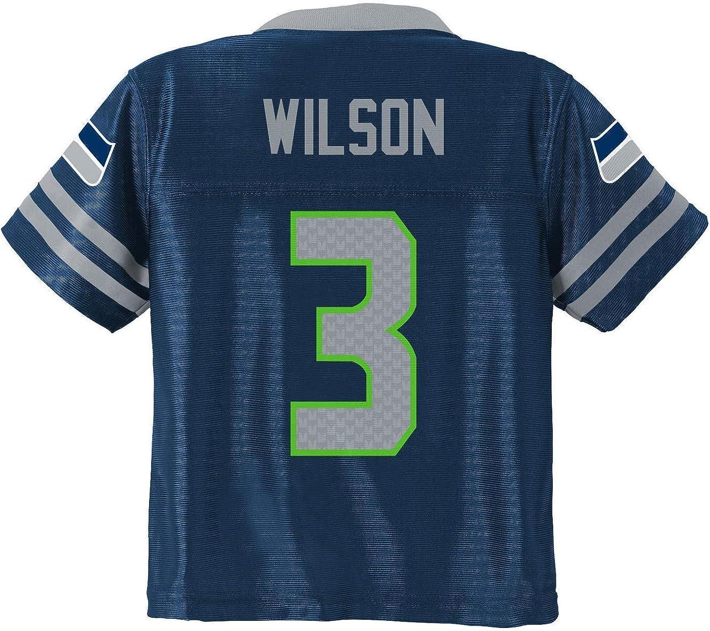 OuterStuff Kids NFL Wilson Seattle Seahawks 2015-16 Season Mid-tier Jersey Navy Kids 4