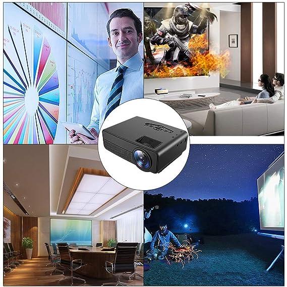 FSMJY Proyector, videoproyector portátil, Pantalla 1080P HD de 72 ...