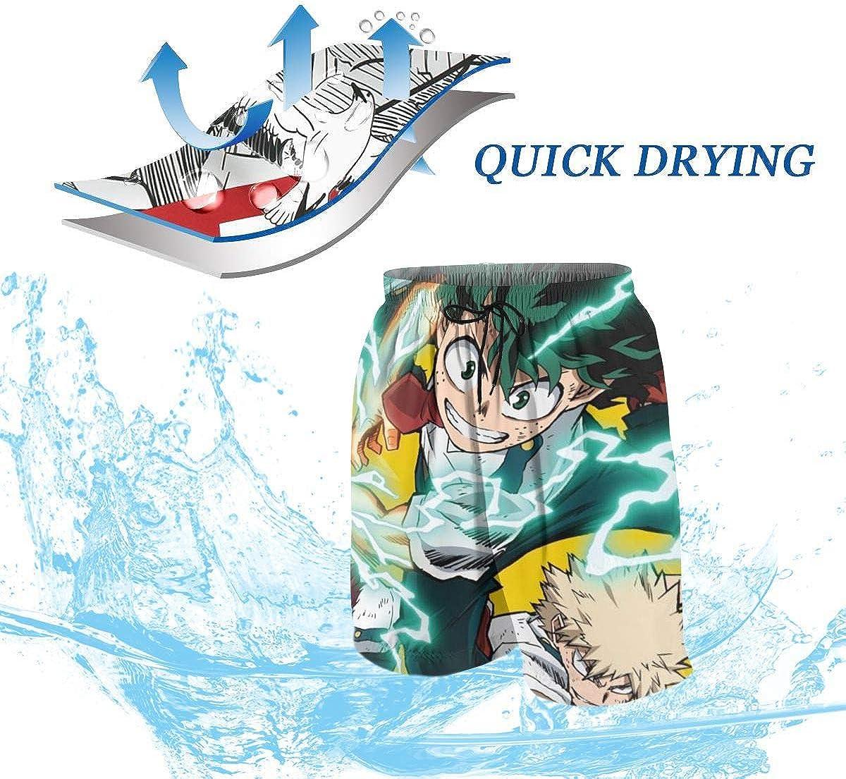 Sedide My Hero Acade-mia Boys Teens Cool Swimtrunks Quick Dry 3D Printed Casual Beach Boardshorts 7-20 Years Old