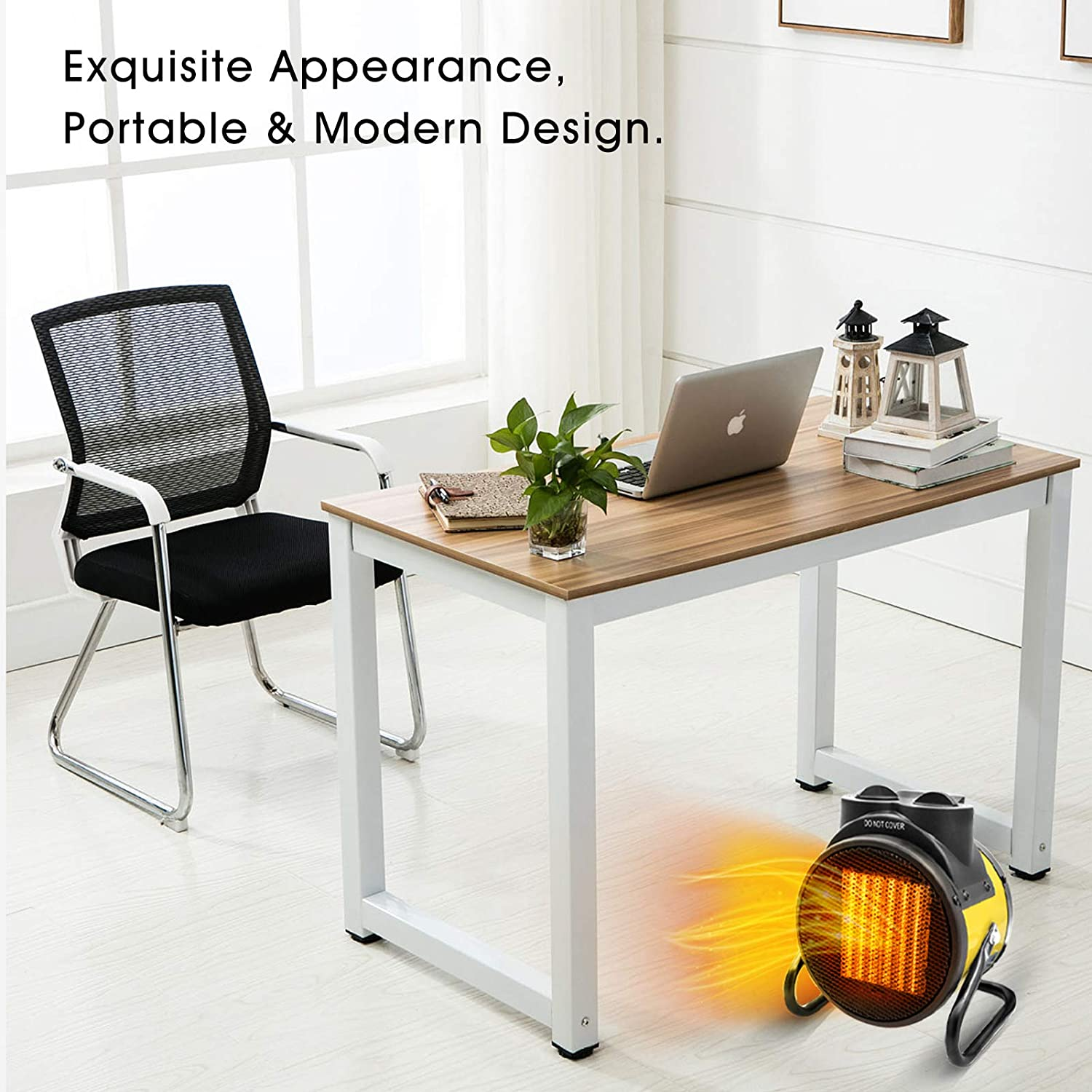 Grow Tent Outdoor Greenhouse AgiiMan Patio Space Heater Portable Thermostat,Heat Up in 3 Seconds,Adjustable Heating Settings,Small Fan Heater for Office Electric Garage Personal Heaters with Extra Long Cord
