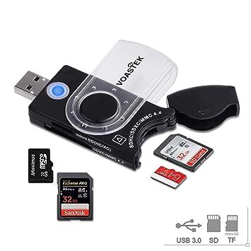 VOASTEK - Lector de tarjetas de memoria USB 3.0 con 4 ...