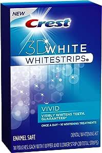 Crest 3d White Vivid Teeth Whitening Strips 10 Count
