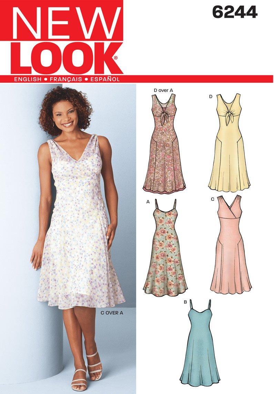 New Look Simplicity Schnittmuster 6244 für Damenkleider, Gr. 34-44 ...