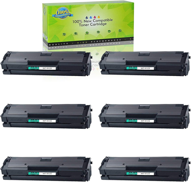6 Packs MLT-D111S Toner Cartridge Black for Samsung Xpress M2020W M2070W M2070FW