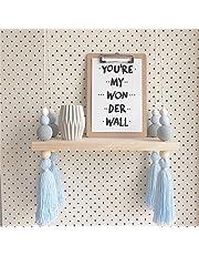 Baldas flotantes Estantería de pared estante almacenamiento estante niño ins Nordic estilo sólido color macarons cuentas